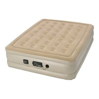 "Serta 18"" Raised Queen Air Mattress with neverFLAT AC Pump"