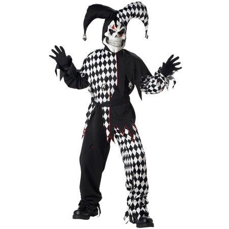 Evil Jester Boys' Child Halloween Costume - Evil Jester Kids Costume