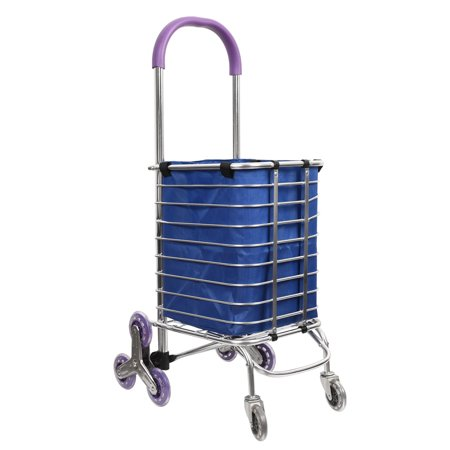 Sundale Outdoor Aluminum Folding Shopping Cart with Rolling Wheels and Removable Bag Lightweight Trolley Dolly Utility Cart Stair Climber for Shopping, Picnic, Luggage, 135-Pound Capacity, (Best Lightweight Cart Bag)