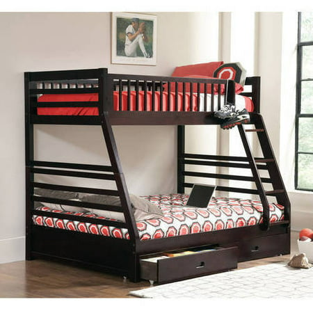 Coaster Cooper Twin Over Full Wood Bunk Bed, Cappuccino