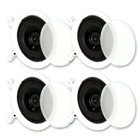 Theater Solutions CS4C In Ceiling Speakers Surround Sound Home Theater 2 Pair Pack