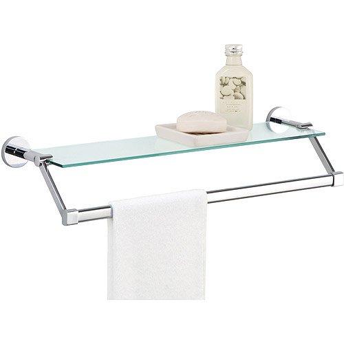 Genial Glass Shelf With Chrome Towel Bar