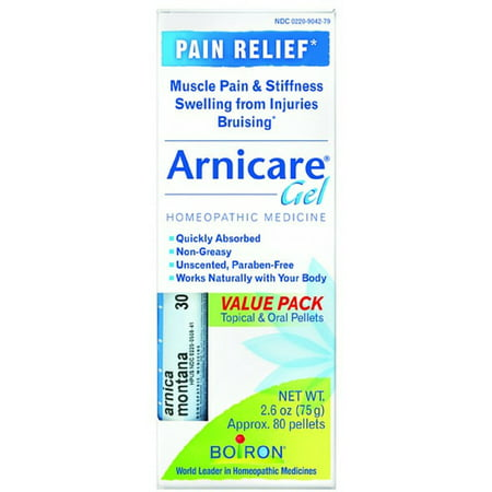 2 Pack - Boiron Arnicare Arnica Gel 2,60 oz Value Pack Avec Blue Tube