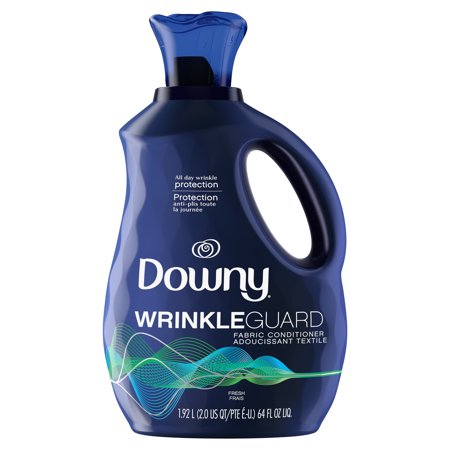 Downy WrinkleGuard Liquid Fabric Softener and Conditioner, Fresh, 64 fl oz. Bottle Ultra Downy Fabric