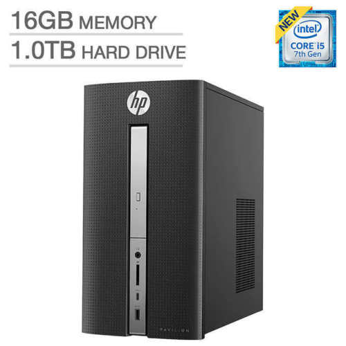 HP Pavilion 570-p017c Desktop - Intel Core i5 - 2GB Graphics PC Computer 16GB Memory 1TB HDD 2GB Radeon R7 450