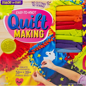 Made by Me Easy-to-Knot Quilt Making Kit, Colorful D.I.Y. Quilt, 6+