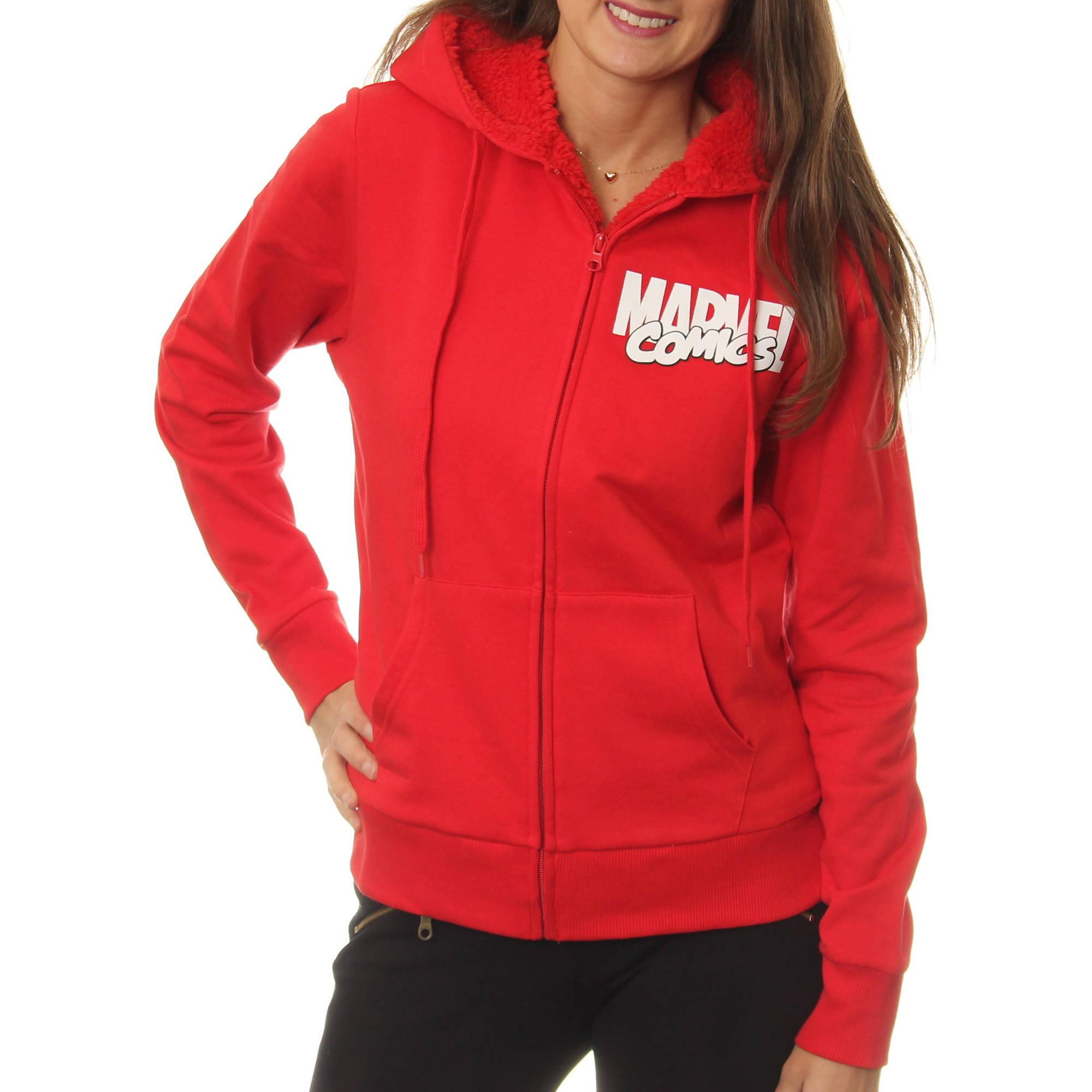 Marvel Juniors' Sherpa Lined Zip-Up Hoodie