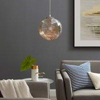 """Fairy 8"""" Amber Glass Globe Ceiling Light Pendant Chandelier in"""