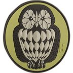 Maxpedition Gear Owl Patch Multi-Colored