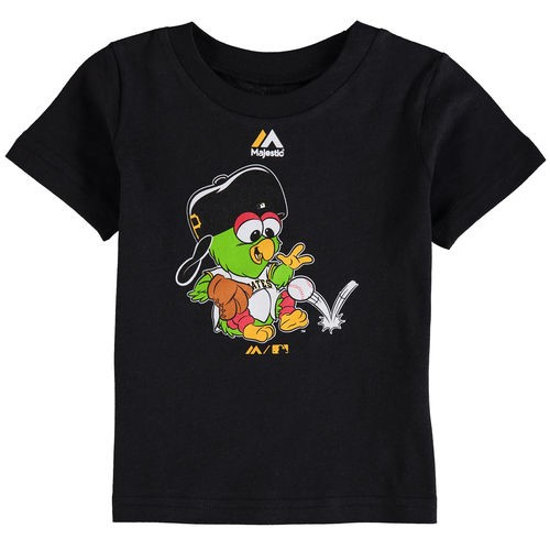 Pittsburgh Pirates Majestic Infant Baby Mascot T-Shirt - Black