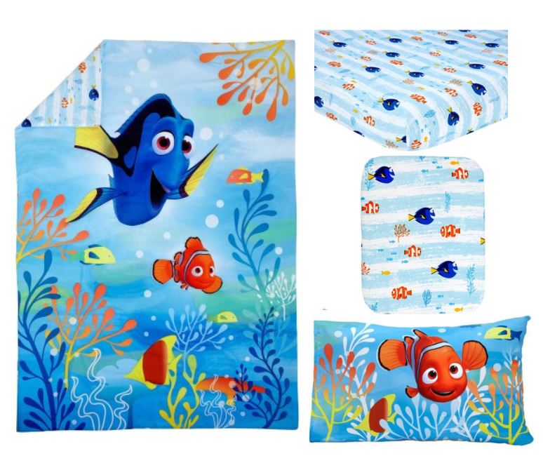 Disney Finding Dory 4-Piece Toddler Bedding Set by Crown Crafts Infant Products, Inc.