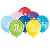 Product Image Latex Fun Happy 3rd Birthday Balloons Assorted 12 In 8ct