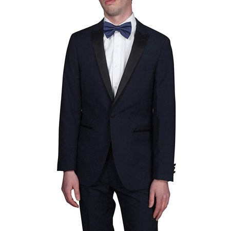 Giorgio Fiorelli Men's G47815/18 One Button Modern Fit Two-Piece Peak Lapel Tuxedo Suit Set - Navy - 50R