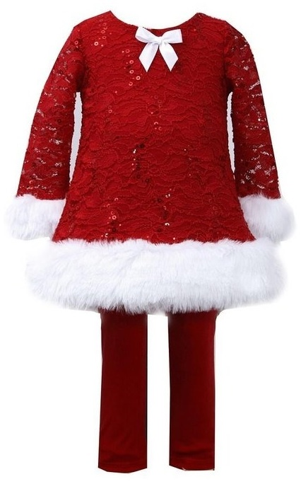 Red Christmas Dress with Leggings