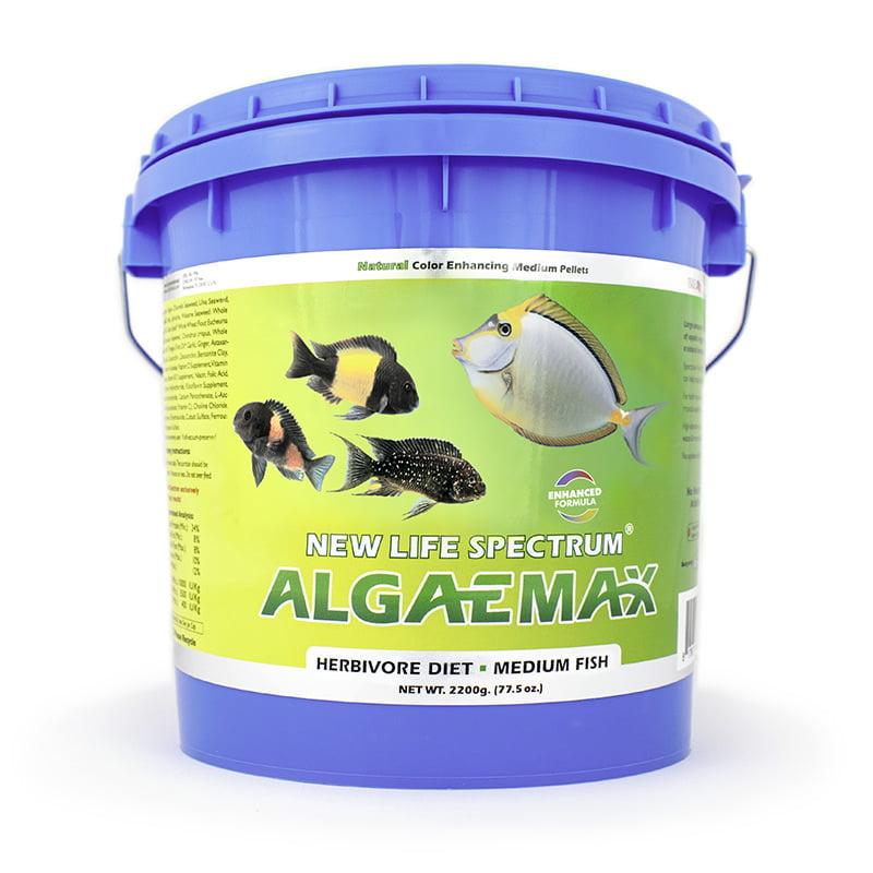 New Life Spectrum AlgaeMax Fish Food Pellets for Medium Fish, 2.2kg