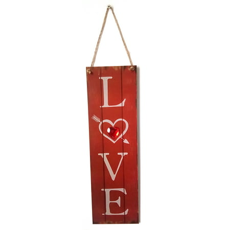 Vintage Style Wooden Wall Hanging Decoration Board Handmade Rustic Signs Door Ornaments Plaque Hanger Holiday Valentine Gift
