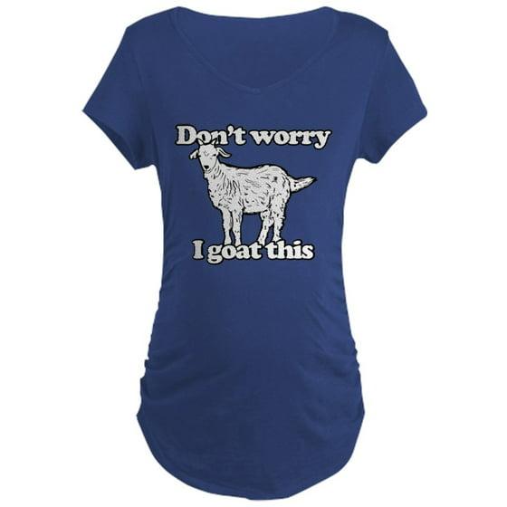 fc7f025aaa0e CafePress - CafePress - Don't Worry I Goat This - Maternity Dark T-Shirt -  Walmart.com