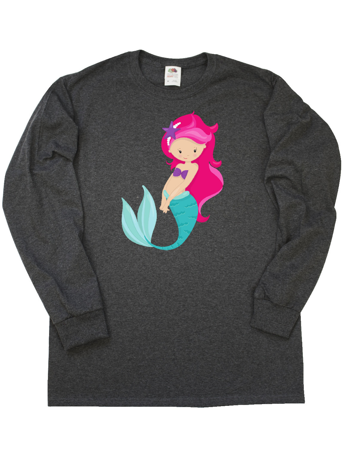 Purple Hair inktastic Cute Little Mermaid Purple Toddler Long Sleeve T-Shirt