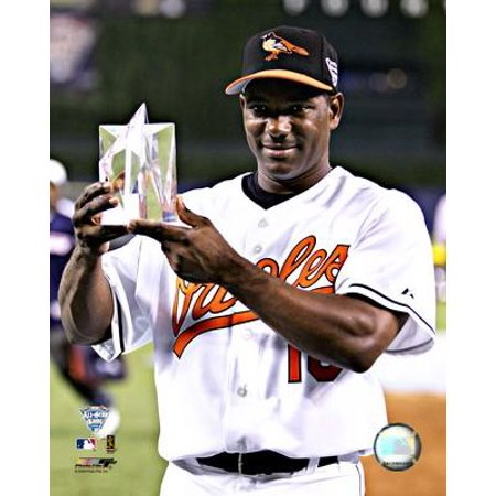 Miguel Tejada 2005 All Star Game MVP Trophy Photo - All Star Trophy
