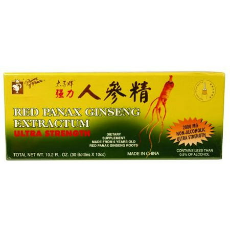 Imports Panax Ginseng (Prince of Peace Red Panax Ginseng Extractum Ultra Strength Dietary Supplement, 0.3 Fl Oz, 30 Ct)
