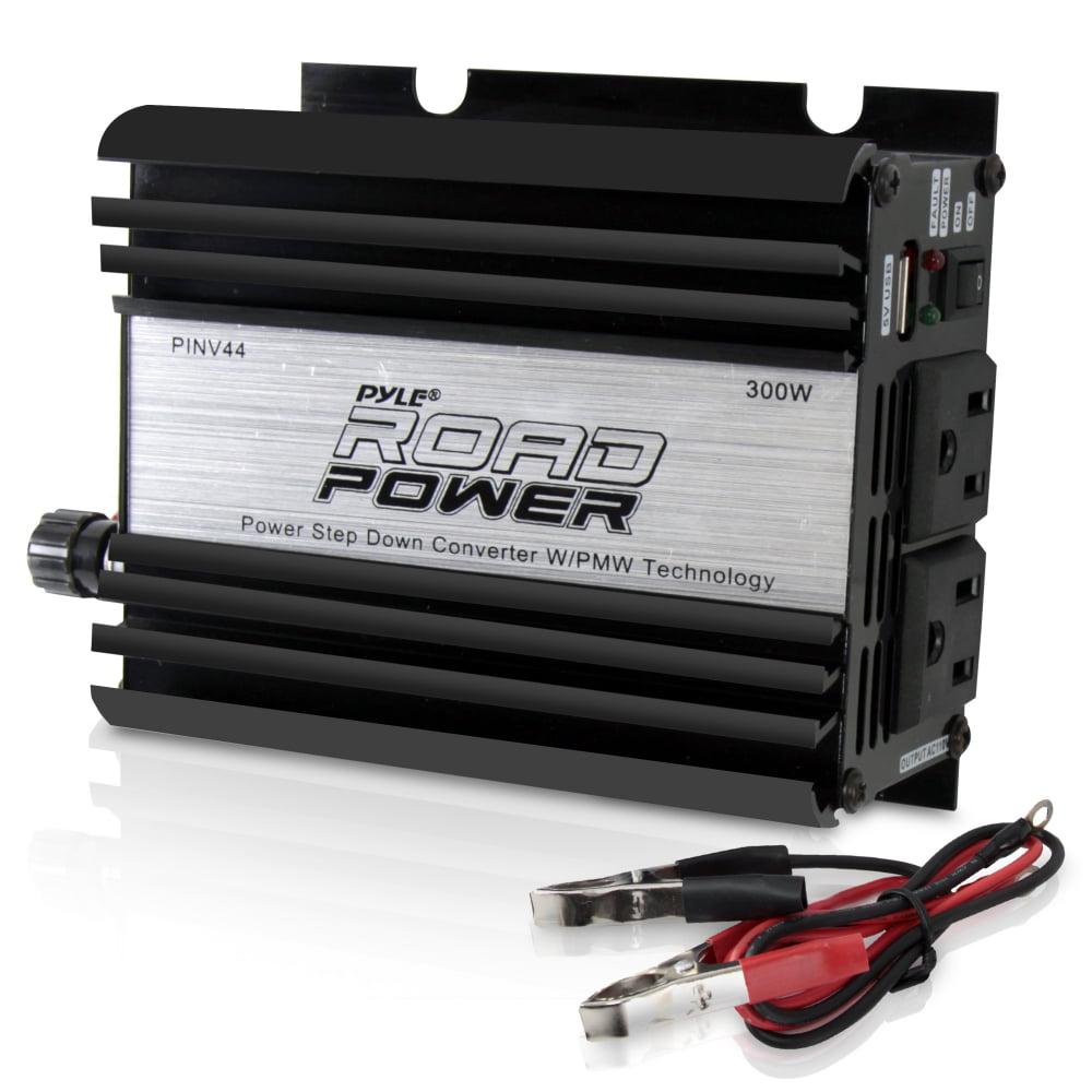 PYLE PINV44 - Plug in Car 300 Watt 12v DC to 115 Volt AC Power Inverter w/ Modified Sine Wave & 5 Volt USB Outlet