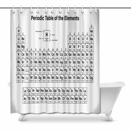 POP Periodic Table of Elements Art Shower Curtain 66x72 inch - image 1 de 1