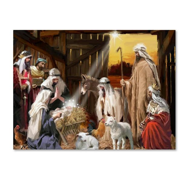 Trademark Fine Art Nativity Canvas Art By The Macneil Studio Walmart Com Walmart Com