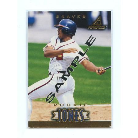 1997 New Pinnacle Sample #175 Andruw Jones Atlanta Braves Rookie Sample -