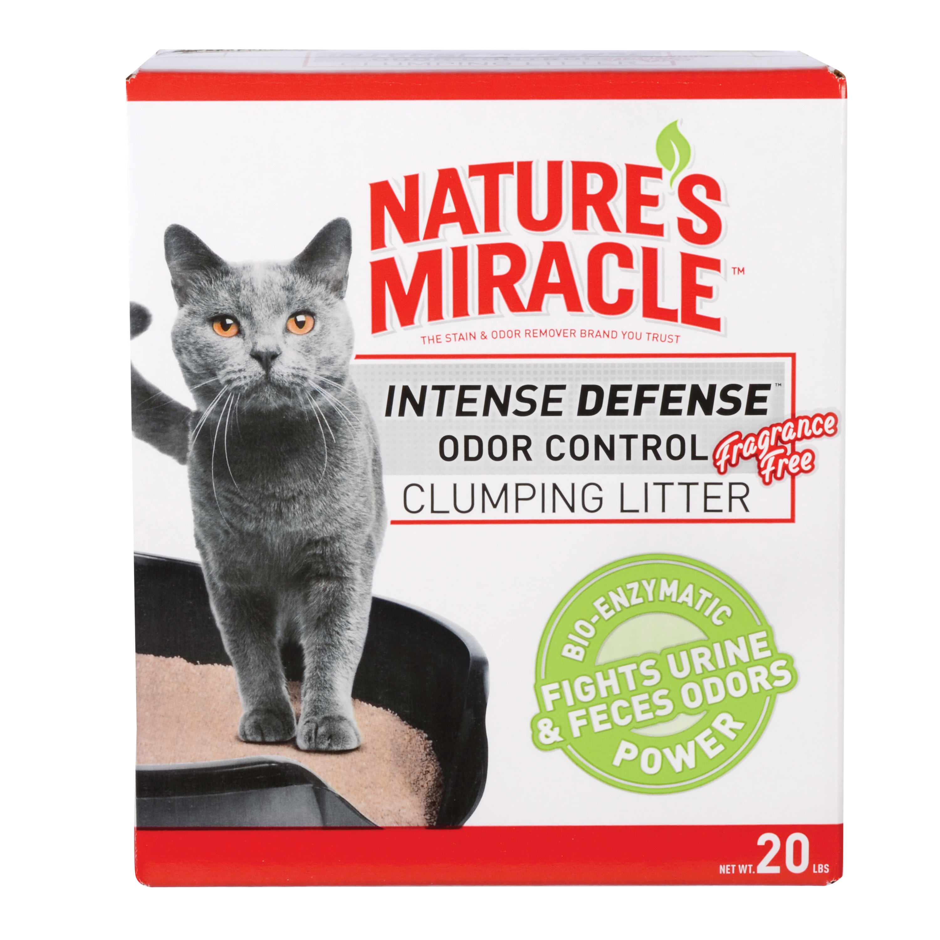 Nature's Miracle Odor Control Clumping Litter Fragrance Free, 20-lb