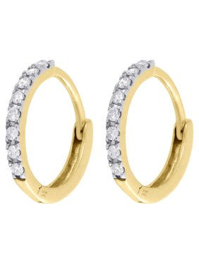 d71464e73 Product Image 10K Yellow Gold Genuine Diamond Hoops / Huggie Earrings 0.45