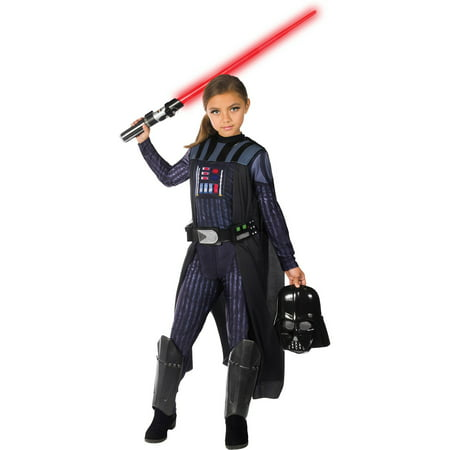 Star Wars Classic Darth Vader Girls Costume](Darth Vader Costume Kids)
