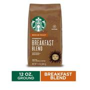 Starbucks Medium Roast Ground Coffee  Breakfast Blend  100% Arabica  1 bag (12 oz.)