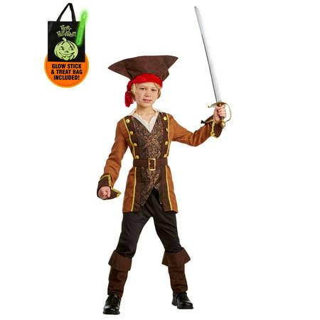 Salty Sea Captain Child Costume Small (4-6) Treat Safety Kit