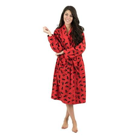 Leveret - Leveret Womens Robe Soft Micro Fleece Plush Shawl Collar Bathrobe  Moose Size L XL - Walmart.com 789b49c60