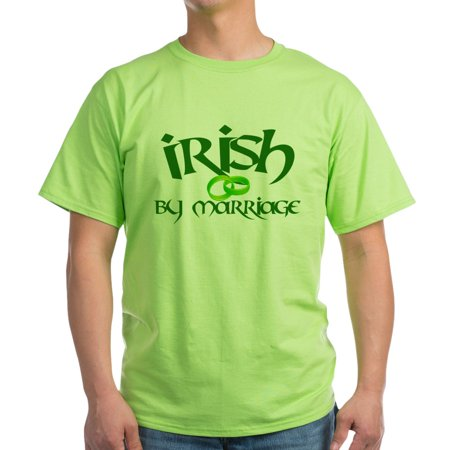 ccc81514 CafePress - Irish By Marriage Green T Shirt - 100% Cotton, Soft T-Shirt