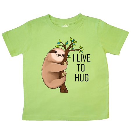 Inktastic I Live To Hug- Cute Sloth On A Branch Toddler T-Shirt Animals Fun Tree