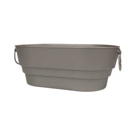Contico 20915SL-6 Silver Finish Faux Galvanized Nesting Storage Tub, 9 Quarts - image 4 de 4