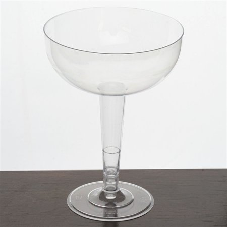 12pcs Clear 8oz Classy Round Plastic Disposable Champagne Glass 2PK](Champagne Beverage)
