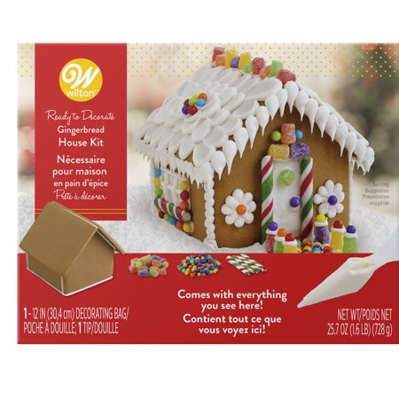- Wilton Ready-to-Decorate Gingerbread House Decorating Kit, Petite
