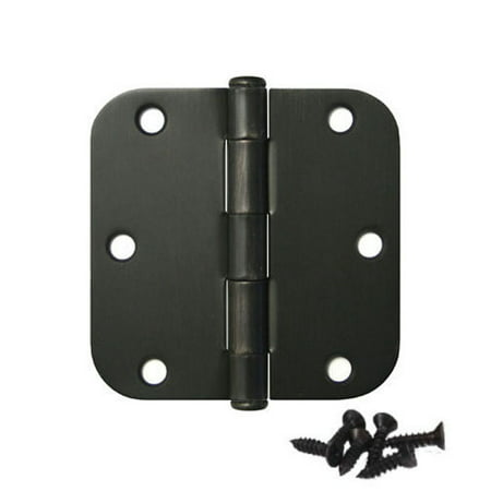 - Pandora Hardware - Round Corner Door Oil Rubbed Bronze Hinge 3.5