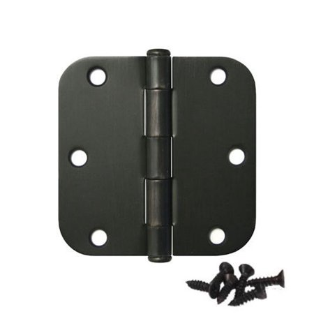 Pandora Hardware Round Corner Door Oil Rubbed Bronze Hinge 3 5 x3 5 5