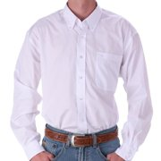 Cinch Mens   Pinpoint Oxford Long Sleeve Shirt 3X XXX-Large White