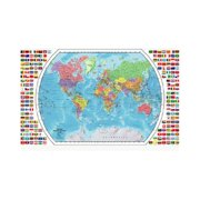 Replogle World Map - 49W x 33H in.