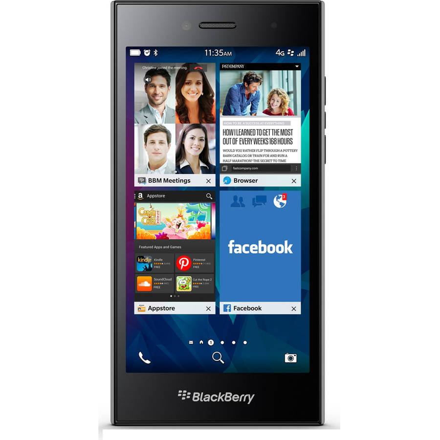 Refurbished BlackBerry LEAP STR100-2 GSM Smartphone (Unlocked), Shadow Grey