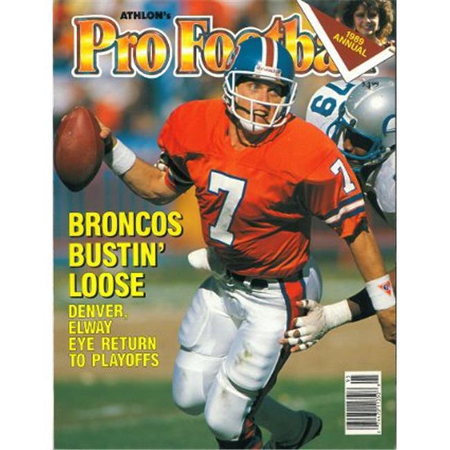 Athlon CTBL-012547 John Elway Unsigned Denver Broncos Sports 1989 NFL Pro Football Preview Magazine