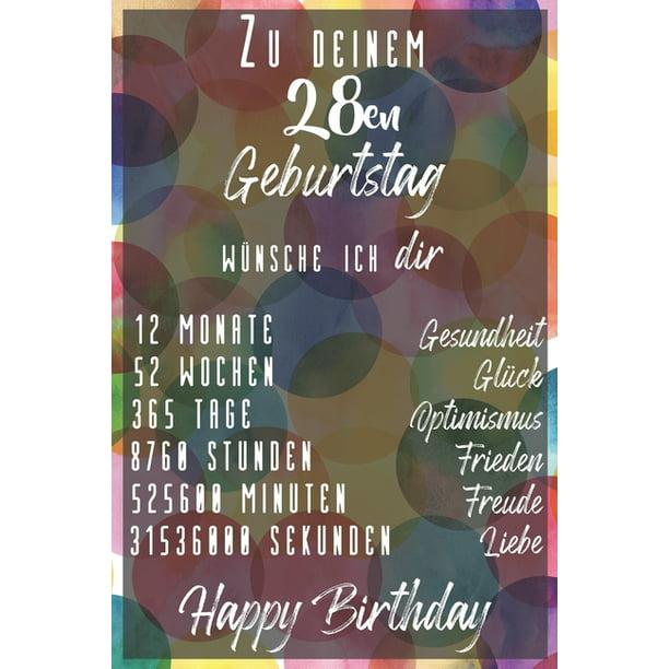 Einladungskarte 28 Geburtstag