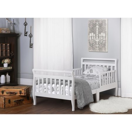 Dream On Me Sleigh Toddler Bed White