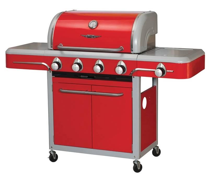 Bel Air 4-Burner Red Cart Gas Grill - Walmart.com