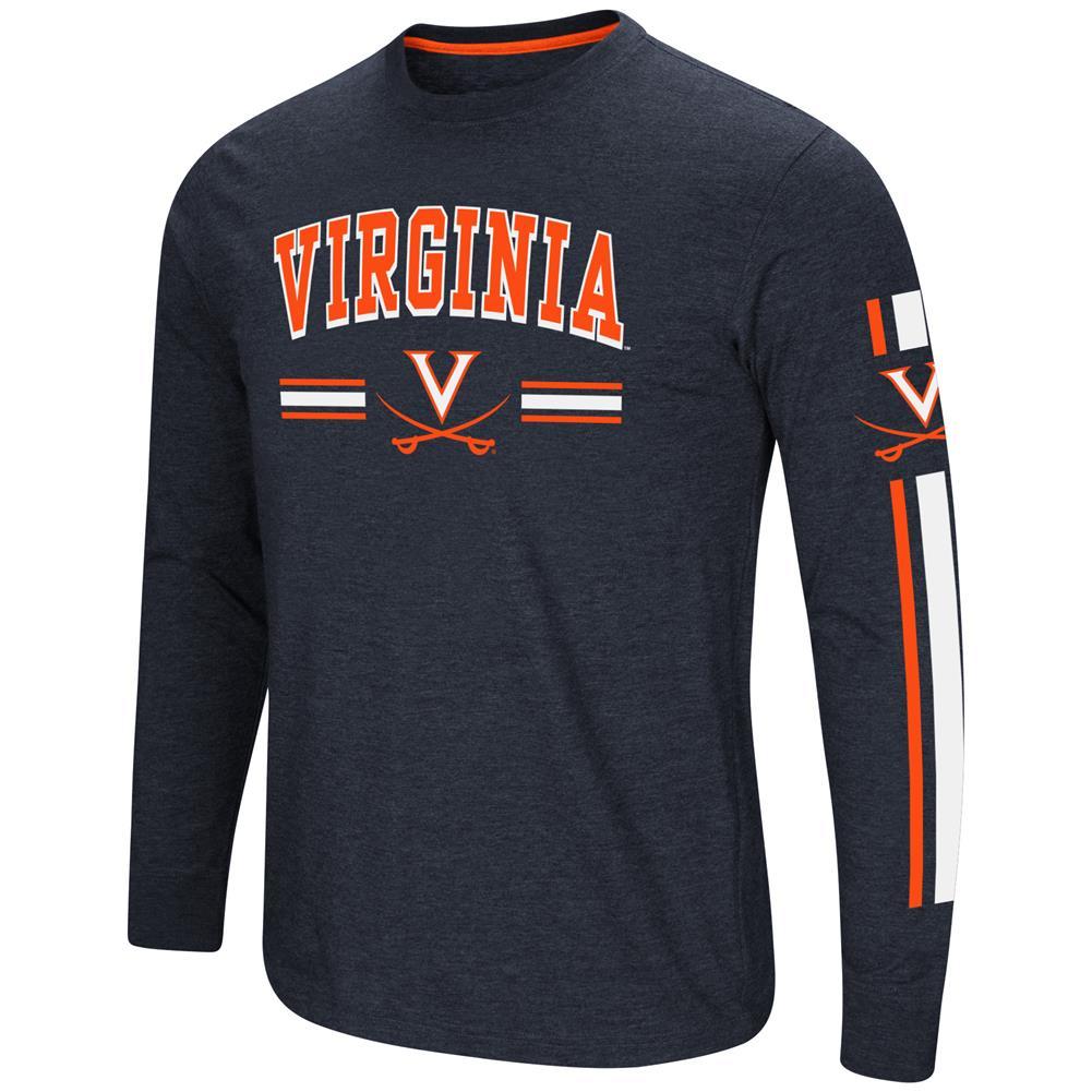 University of Virginia Cavaliers Men's Long Sleeve Touchdown Pass Tee