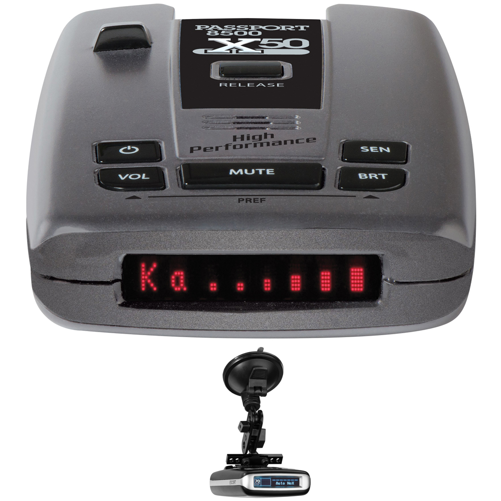 Escort Passport 8500 X50 Radar & Laser Detector with Smart cord USB includes Bonus RadarMount Suction Mount Bracket for Radar Detectors